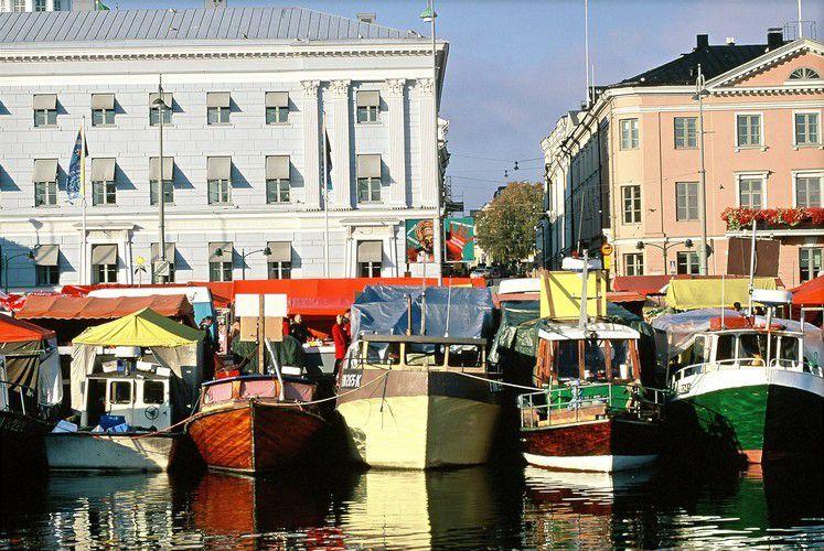Boats in Helsinki, Finland