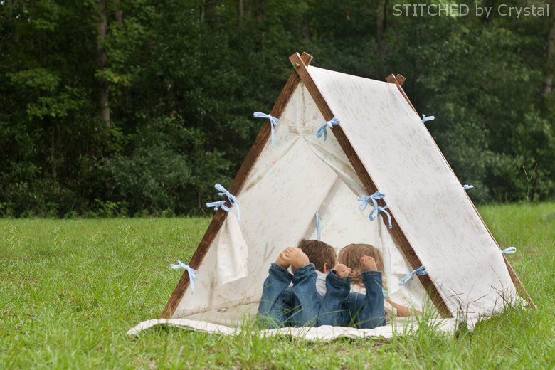 DIY Collapsible Fabric Play Tent