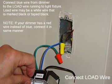 Connect Load Wire To Dimmer