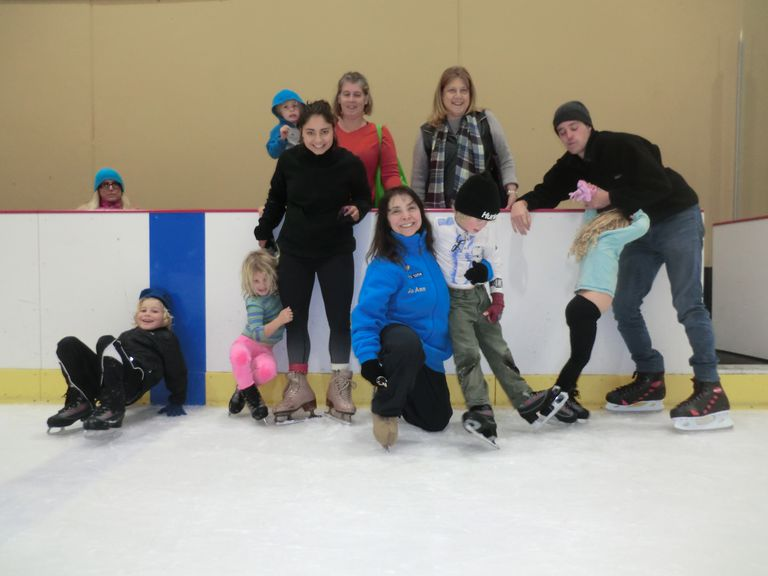 JO ANN and Her Daughter Rebekah Smile With Their Cousins at Ice In Paradise 12-15-15