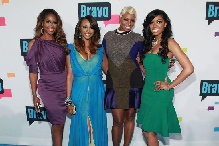 Kenya Moore, Cynthia Bailey, NeNe Leakes, and Porsha Williams from Real Housewives of Atlanta.