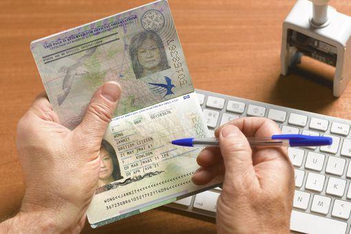 Passport control with british passport