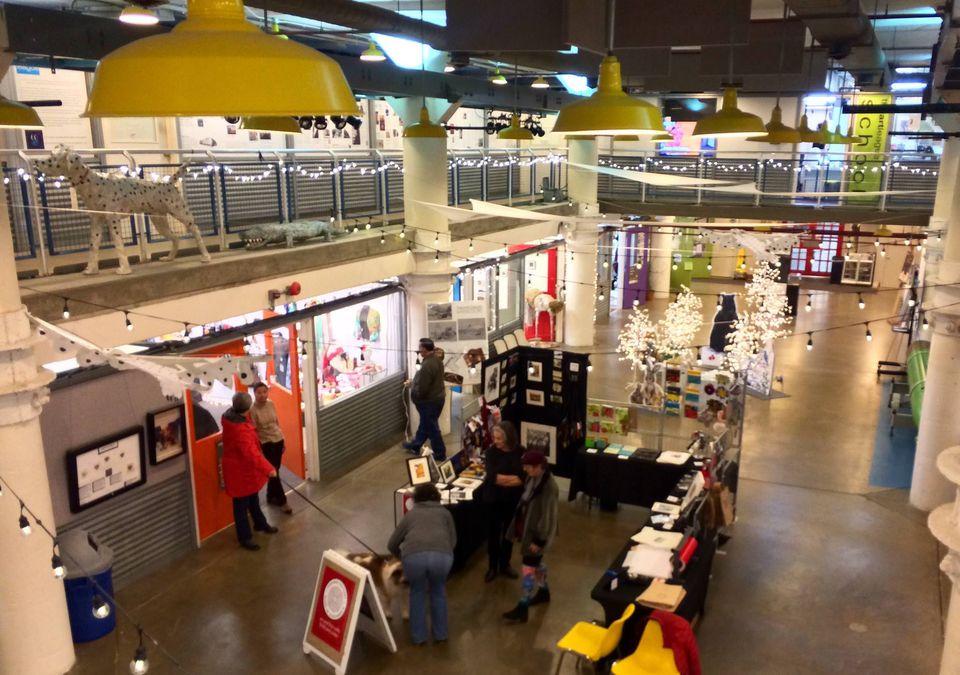 Pop-up shops in the Torpedo Factory Art Center