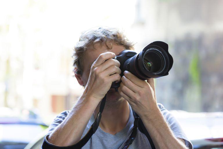 Using a DSLR camera.