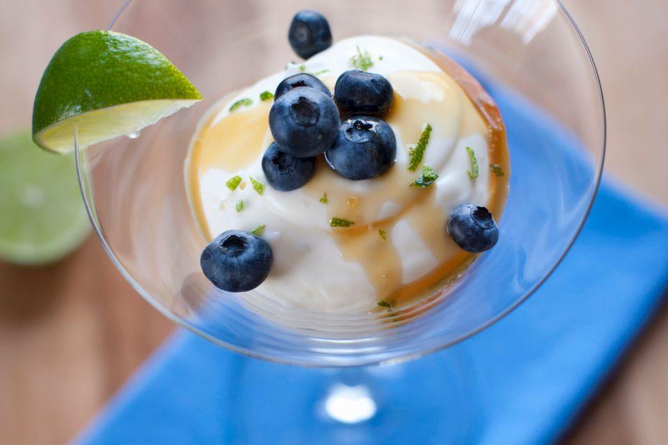 Creme Fraiche with blueberries