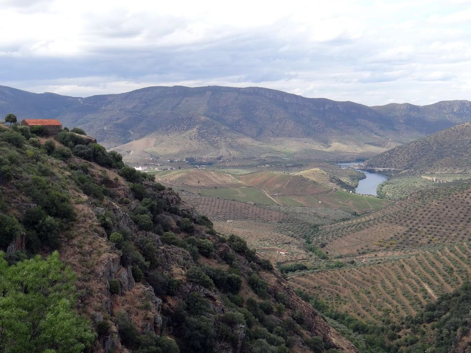 Mountain valley near the Douro River in Portugal