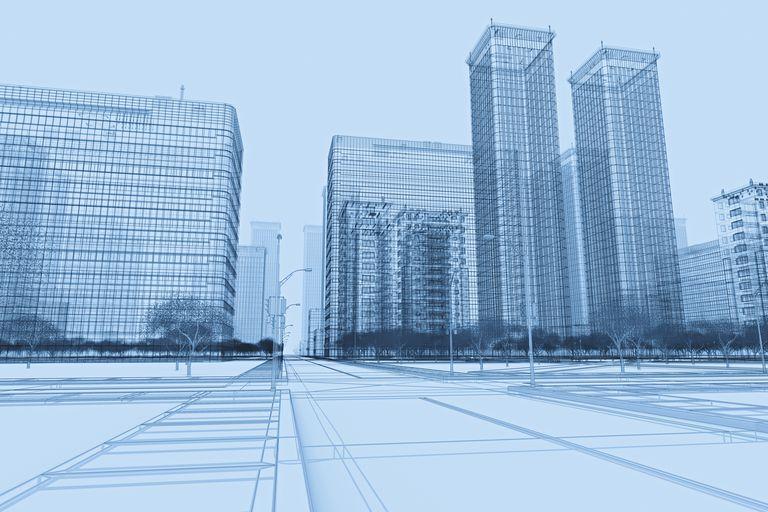 Wireframe Buildings Plan