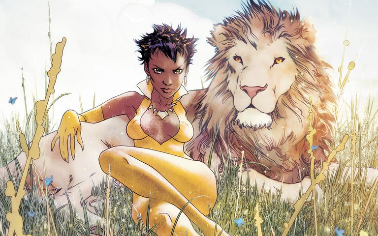 Comic panel of Vixen from