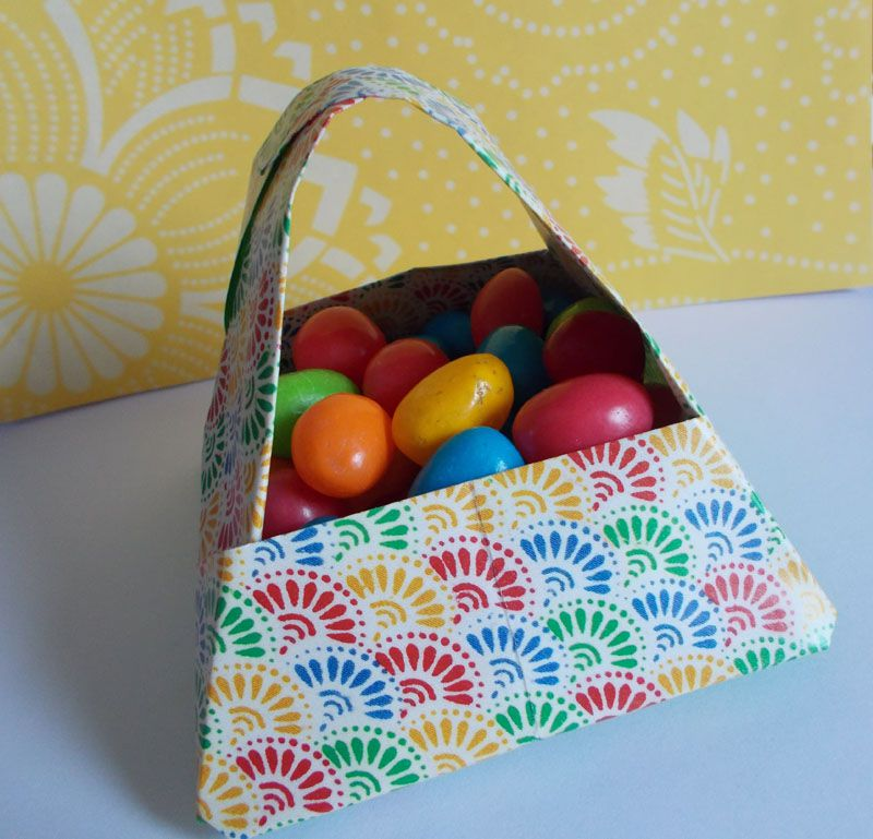 How to make origami paper baskets for easter origami easter basket negle Gallery