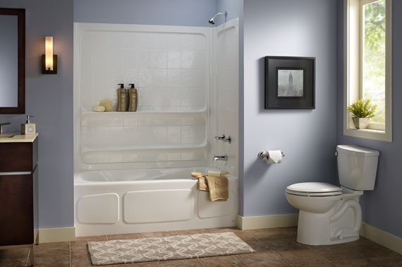 Small Bathroom Ideas - American Standard Bathtub Shower Unit