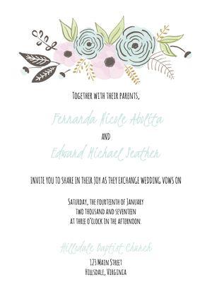 Design wedding invitations template