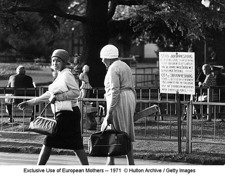 Exclusive Use of European Mothers -- 1971 © Hulton Archive / Getty Images