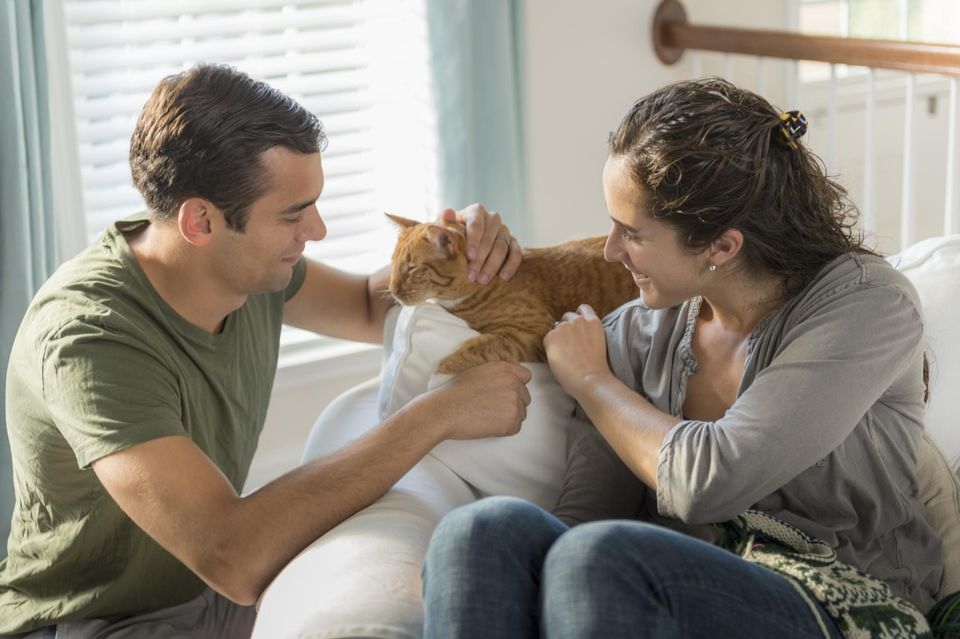 Couple with cat