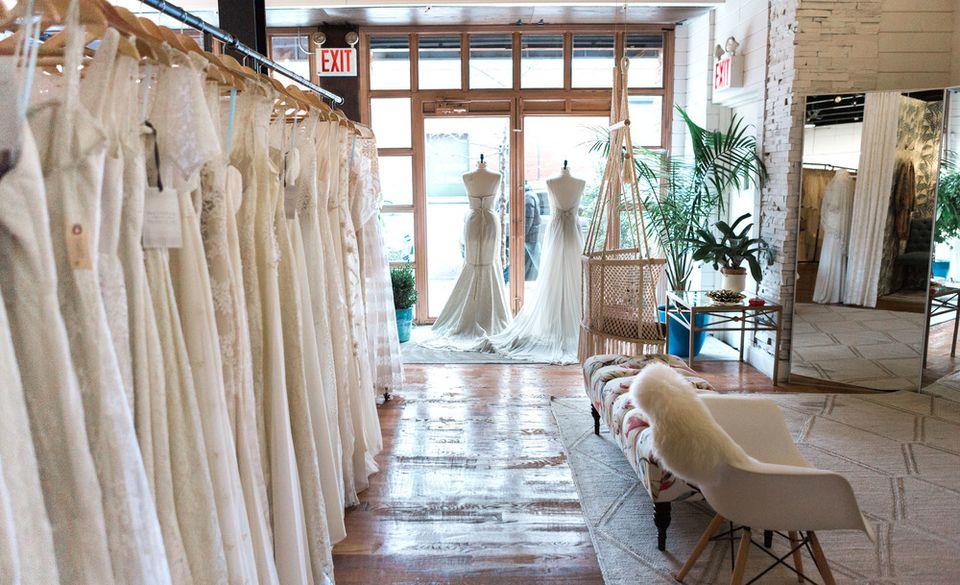 The interior of Schone Bridal