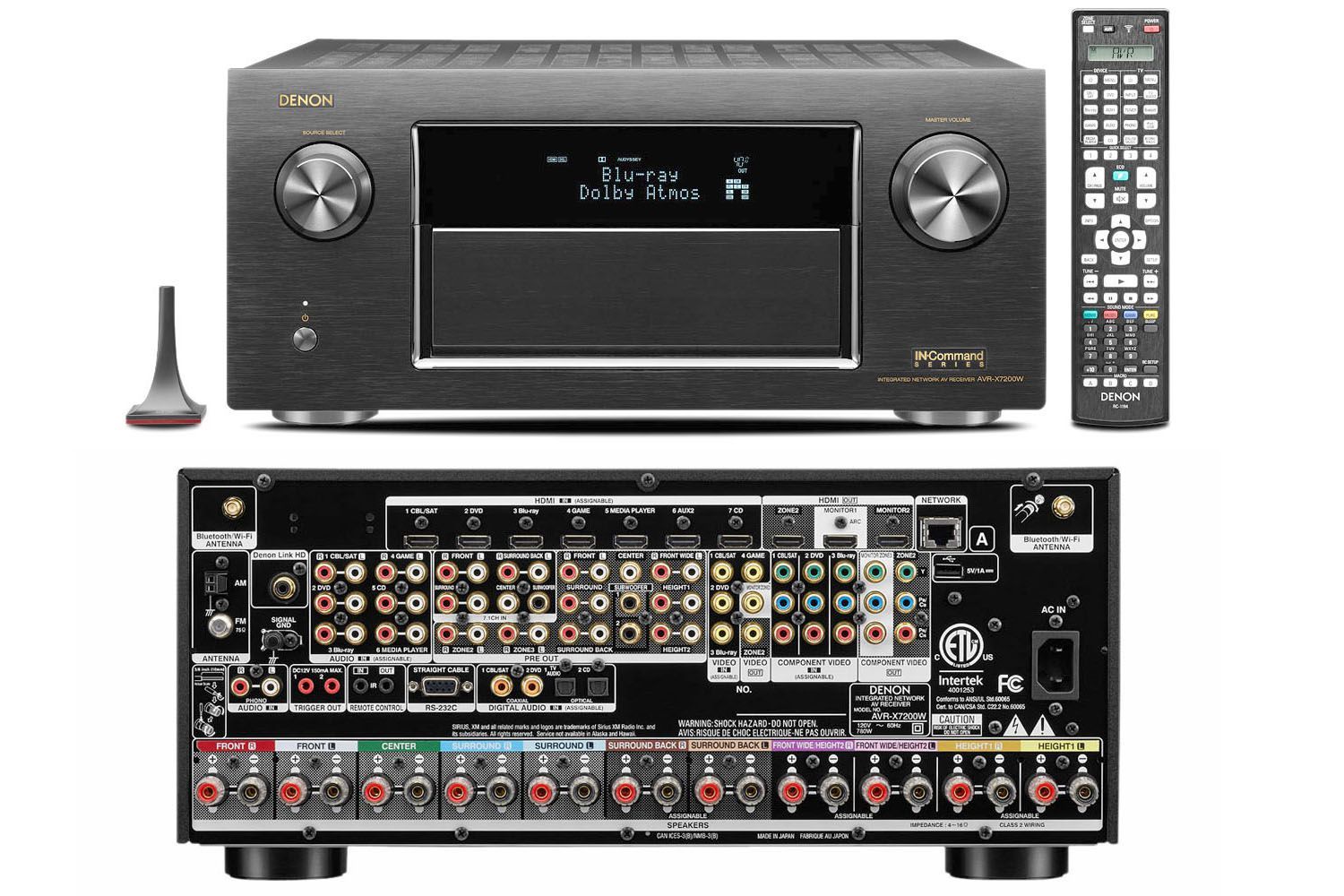 denon 39 s avr x7200wa receiver features dolby atmos dts x and auro 3d. Black Bedroom Furniture Sets. Home Design Ideas