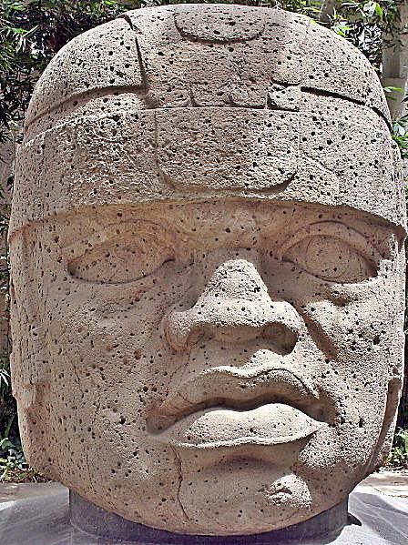 Olmec Colossal Head, San Lorenzo Tenochtitlan, Mexico
