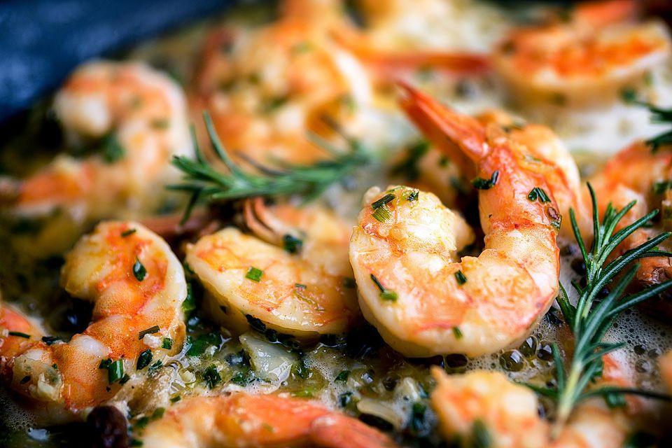 Grilled Garlic Rosemary Shrimp