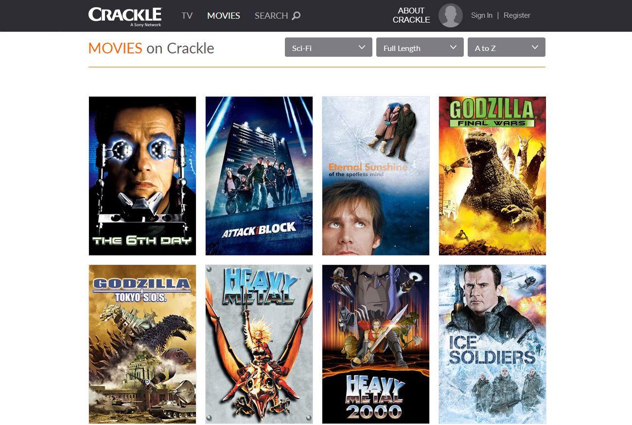 Image Result For Crackle Movie Site