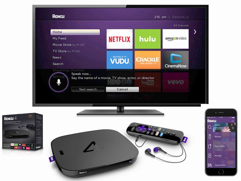 Roku 4 Streaming Media Player Package