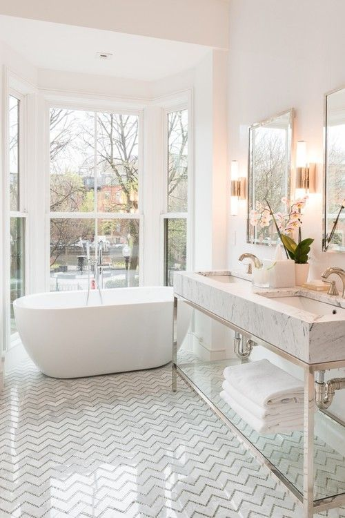 bathroom inspiration white traditional marble - Bathroom Inspiration