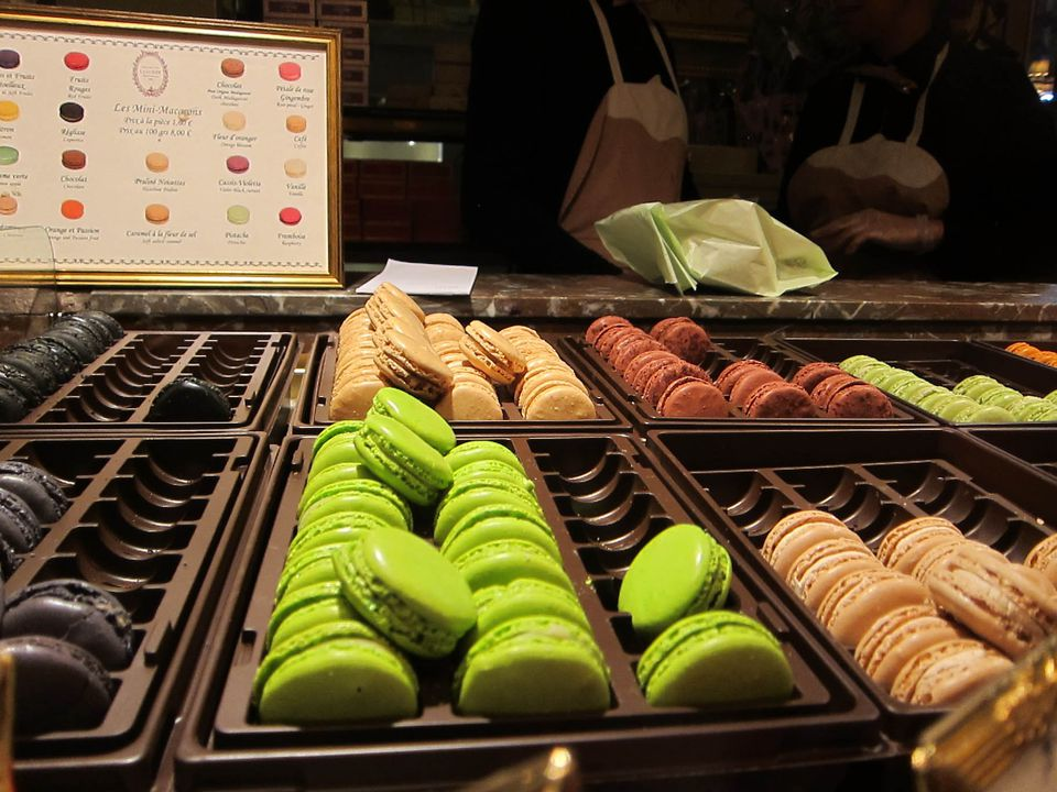 Laduree macarons in Paris