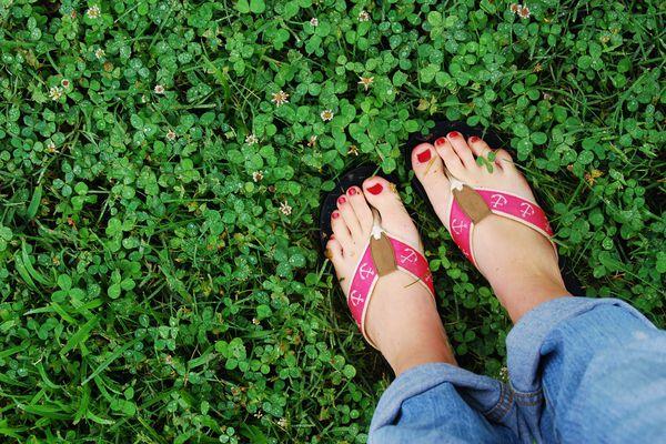 Pretty Toes in Flip Flops