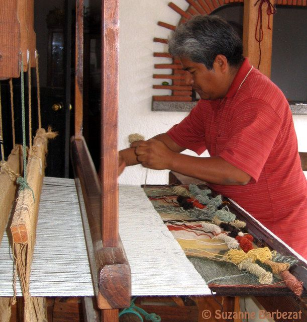 A Weaver from Teotitlan del Valle Oaxaca