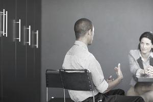 Businessman in an interview