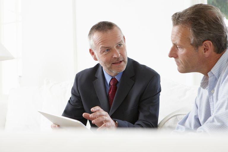 two businessmen talking
