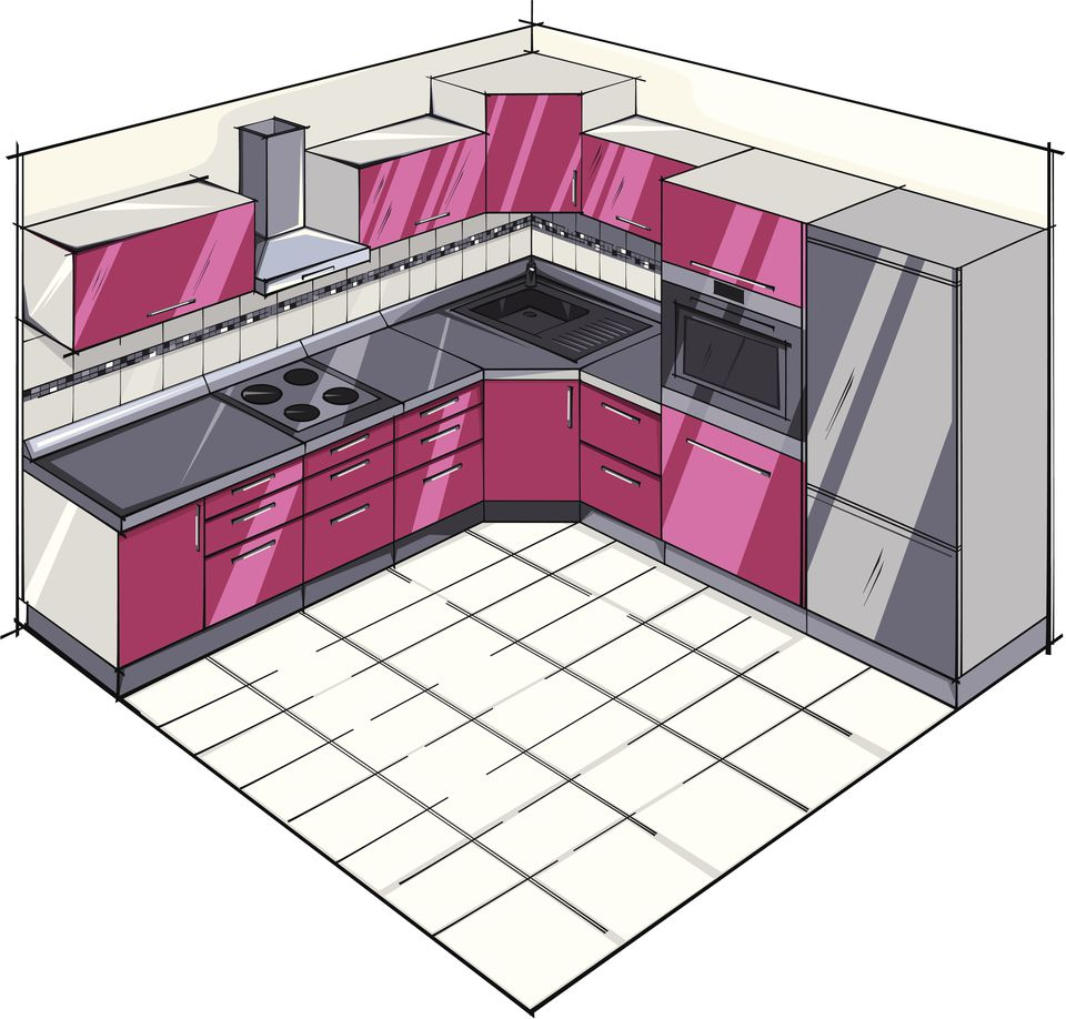 L Shaped Kitchen Layouts Lshaped Kitchen Plans
