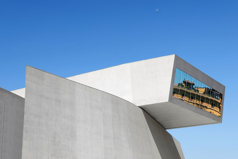 The exterior of MAXXI in Rome