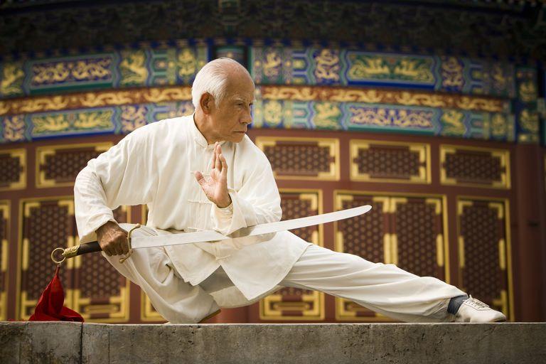 Man Doing Kung Fu