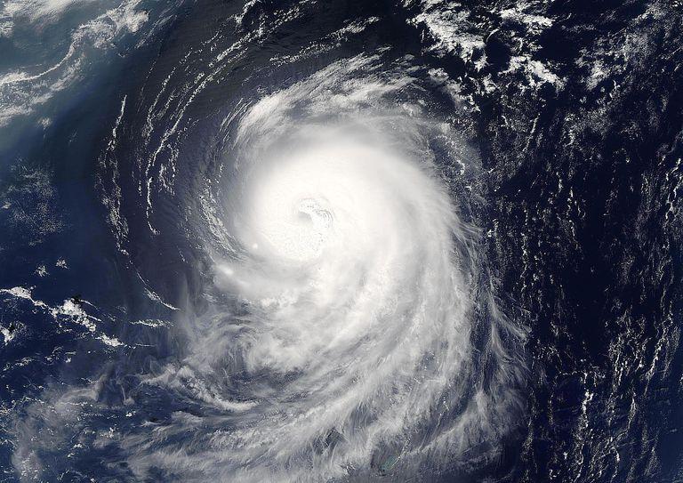 Hurricane Irene, Atlantic Ocean, In 2005, True Colour Satellite Image