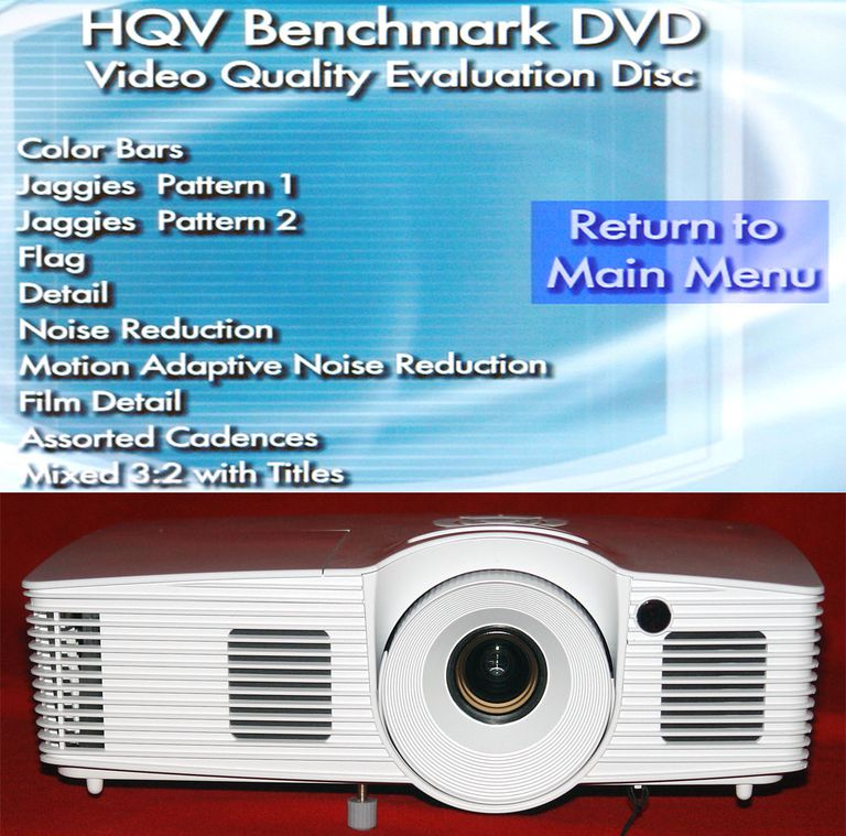 HQV Benchmark Video Quality Evaluation Test Disc - Test List