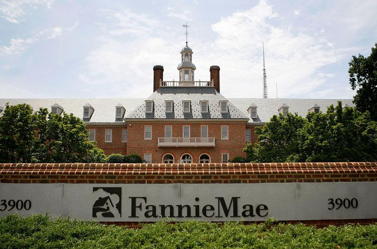 The Fannie Mae headquarters is seen July 10, 2008 in Washington, DC.