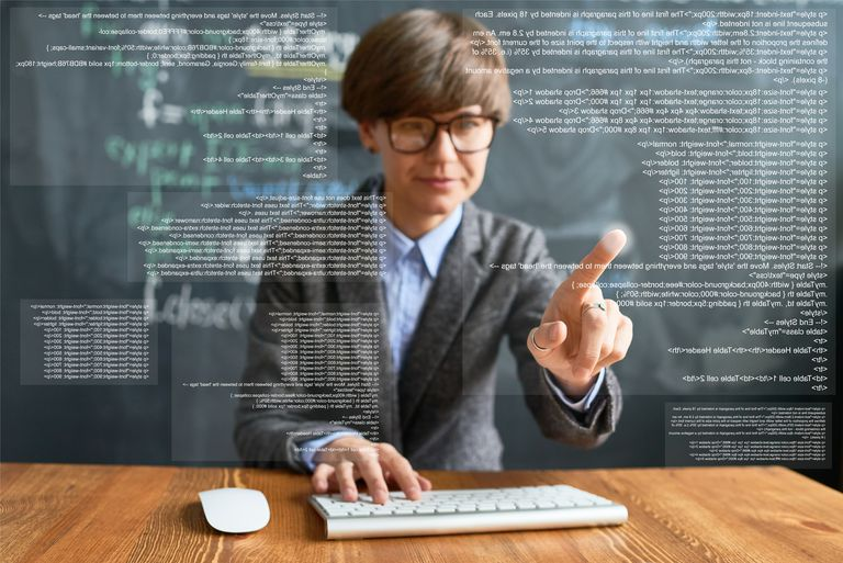 Intelligent female programmer
