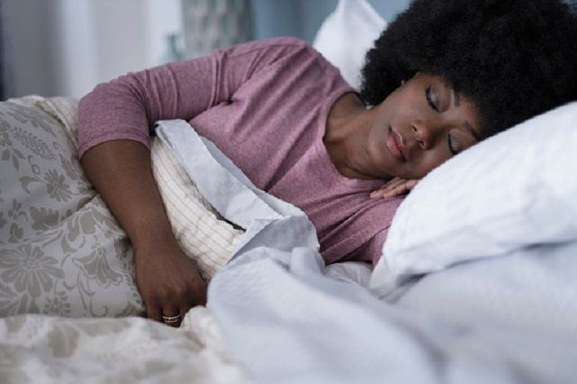 Hands or arms may fall asleep while sleeping due to pressure on the radial, ulnar, or median nerves causing neuropathy