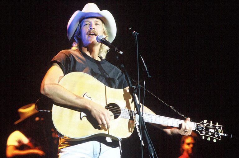 Alan Jackson performs at Shoreline Amphitheatre on August 4, 1994 in Mountain View, California.