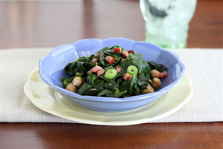 collards and chickpeas