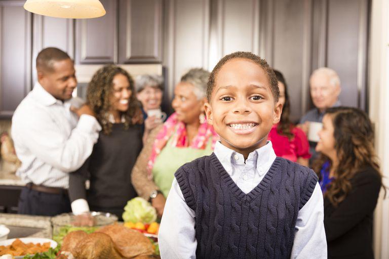 ADHD boy during Thanksgiving