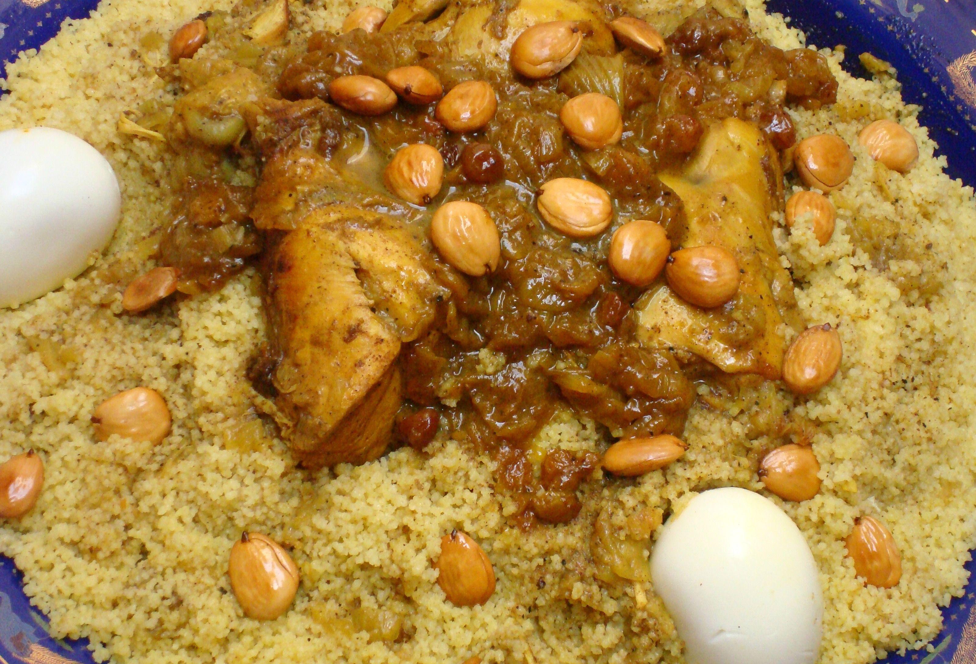 Moroccan Couscous Onions Amp Raisins Couscous Tfaya Recipe