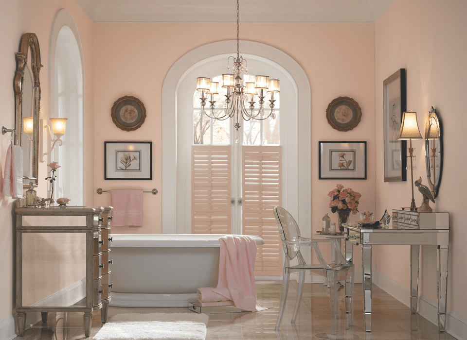 find the perfect pink paint color. Black Bedroom Furniture Sets. Home Design Ideas