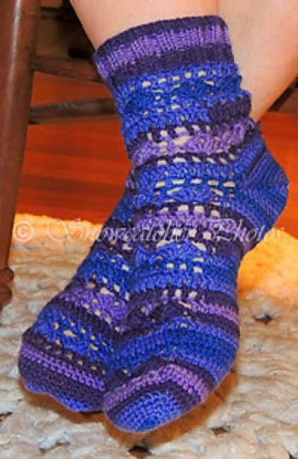 Susie's Socks Free Crochet Pattern