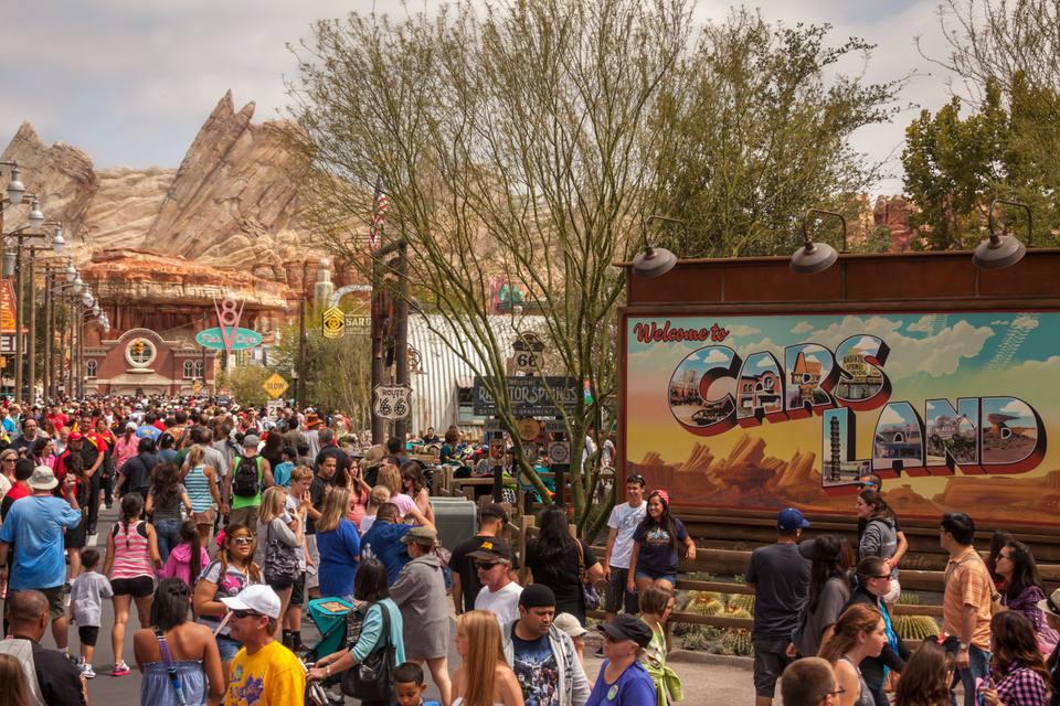 Entrance to Cars Land at Disney California Adventure
