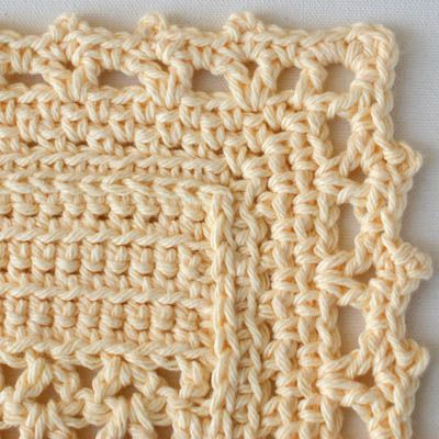 Detailed View of the Dishcloth Edging