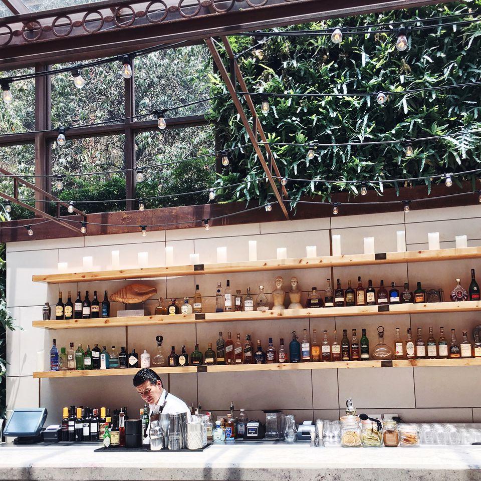 view of an outdoor bar