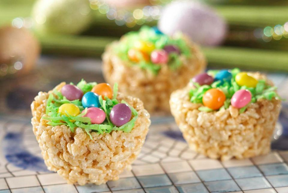 Easter rice crispy treats