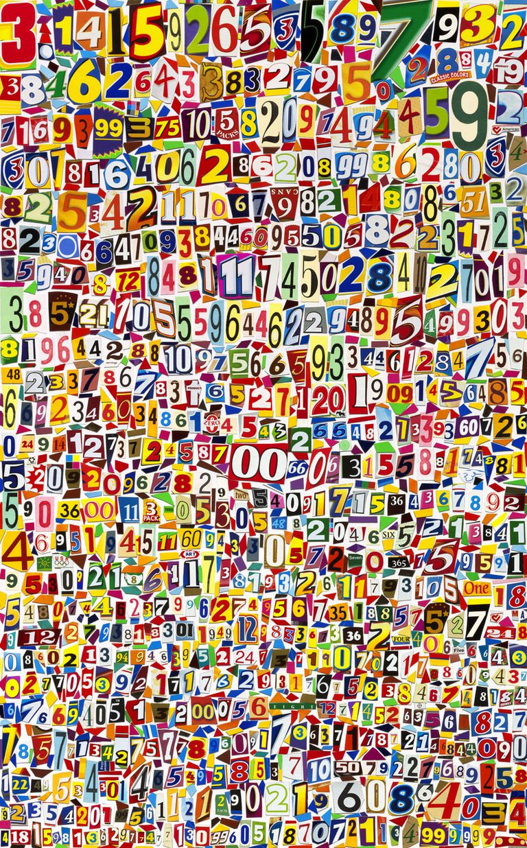 The Number Pi collage by Michael Albert