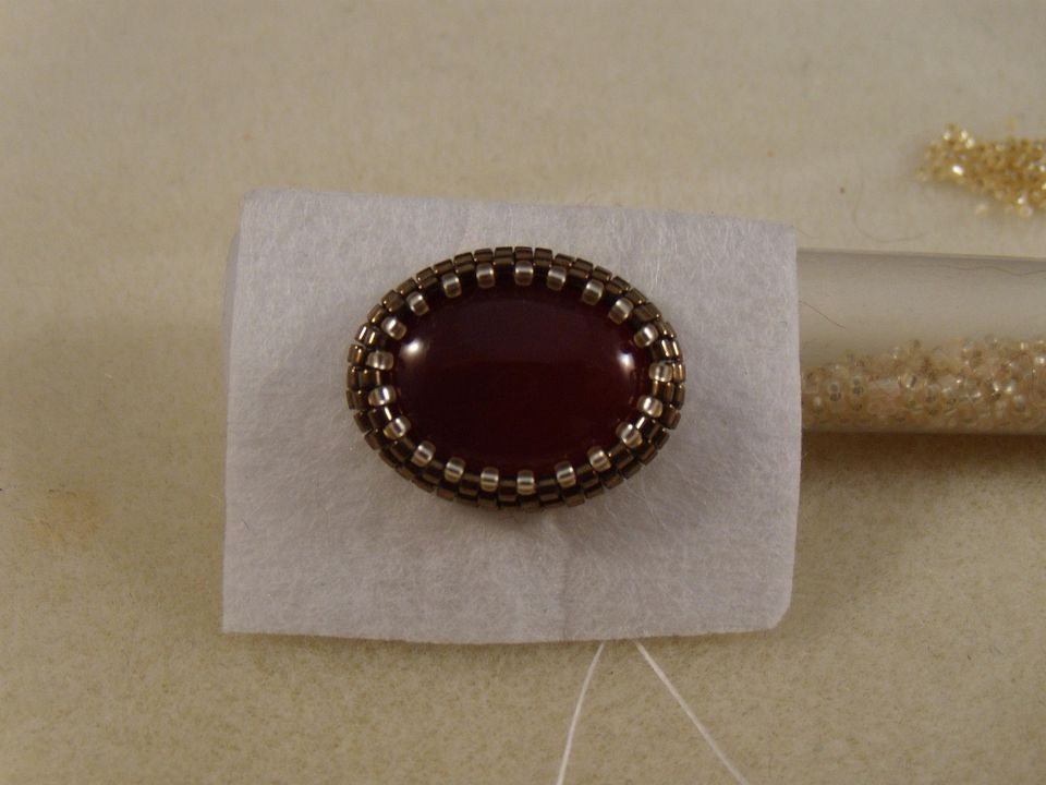 Bead Embroidered Cabochon Bezel Tutorial