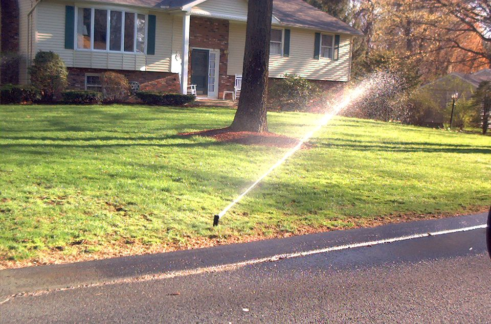 Sprinklers (image) can save you money. They can also save you time.